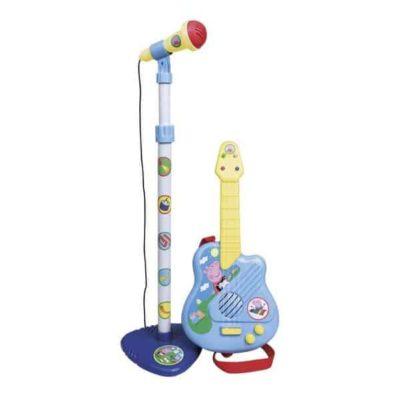 Guitare pour Enfant + Micro Peppa Pig