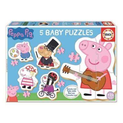 Set de 5 Puzzles Peppa Pig Educa