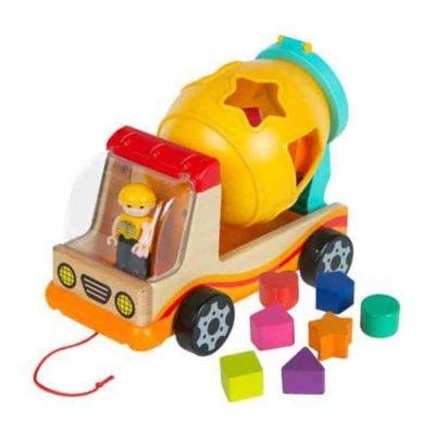 Camion avec blocs de construction