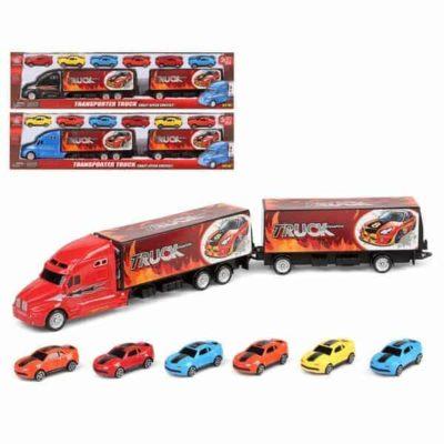 Camion porte-véhicules et Voitures