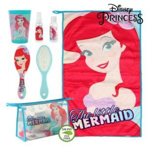 Ensemble de Toilette pour Enfant de Voyage Princesses Disney 72575 (6 pcs) Turquoise Rouge