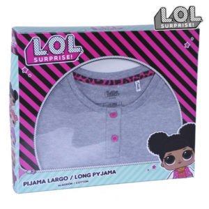 Sweat-shirt à capuche fille LOL Surprise! 74834 Gris Rose