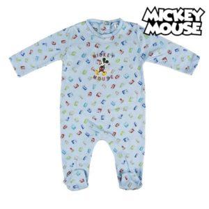 Barboteuse à Manches Longues pour Bébé Mickey Mouse Bleu ciel