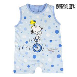 Barboteuse sans Manches  pour Bébé Snoopy Bleu ciel