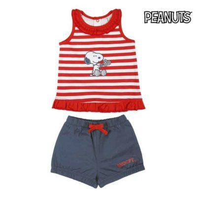 Ensemble de Vêtements Snoopy Rouge