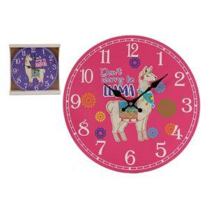 Horloge Murale Gift Decor Bois (3 x 33,8 x 33,8 cm)