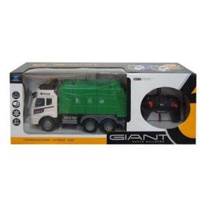 Camion-Benne Télécommandé Giant Blanc Vert