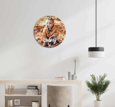 Horloge personnalisée photo style ronde EN MDF