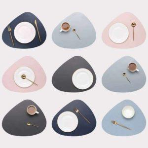 Sets de table haut de gamme en semi-cuir