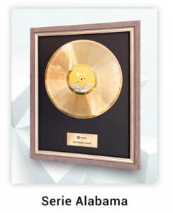 disque d'or personnalisé série Alabama