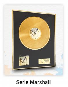 disque d'or personnalisé série Marshall
