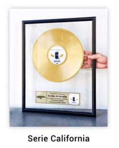 disque d'or personnalisé série california