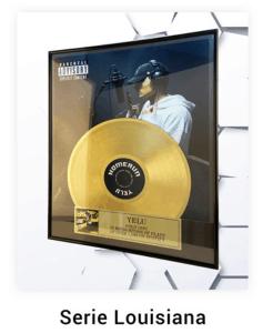 Disque d'or personnalisé série Louisana
