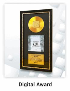 Disque d'or personnalisé série digital awards