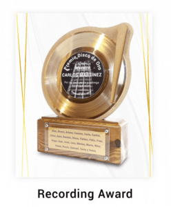 Disque d'or personnalisé série recording awards