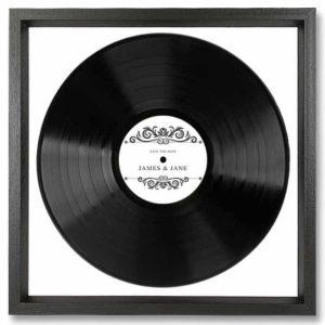 Disque Vinyle Noir Personnalisé