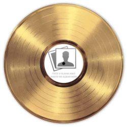 Disque D'OR Vinyle Personnalisé Avec Étiquette