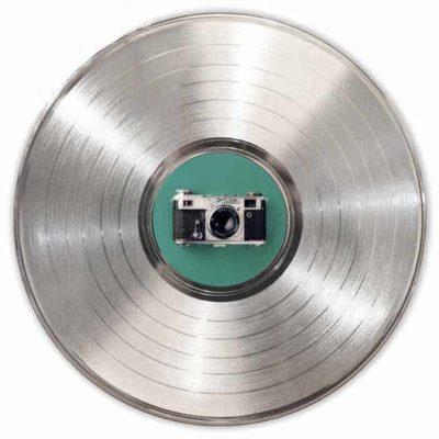 Disque Vinyle Personnalisé Platine avec Étiquette