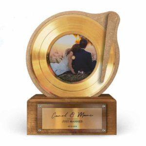 Trophée Disque D'or Deluxe Personnalisé