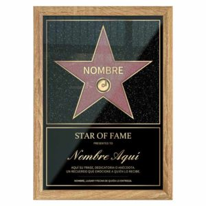 Star of Fame Hollywoodienne Personnalisée