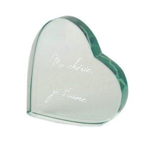 Cœur en verre Personnalisé