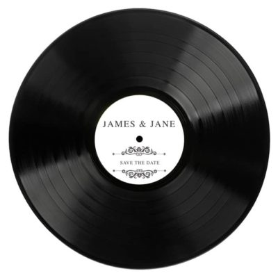Disque Vinyle personnalisé avec étiquette