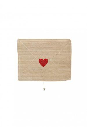 Boite à musique lettre d'amour en bois