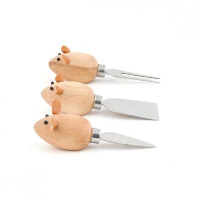 Coffret couteaux à fromage – Souris