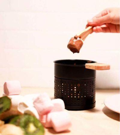 Coffret fondue au chocolat à la bougie