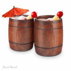 Tasses à baril en bois rustique
