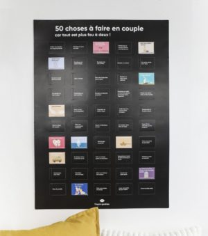Poster 50 choses à faire en couple