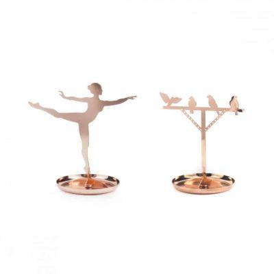 Support pour bijoux en cuivre