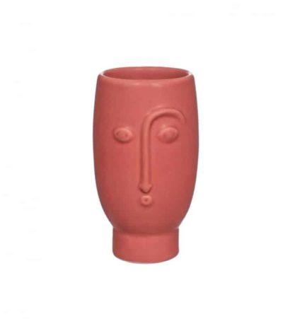 Vase visage abstrait