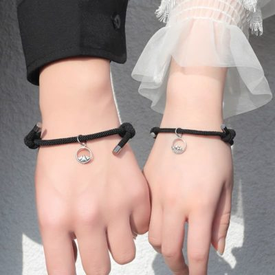 Rope Couple Bracelet with Magnite