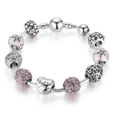 Bracelet élégant en perles d'argent