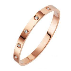 Bracelet en cuivre pour femme avec Zirconium (Modèle Luxe)