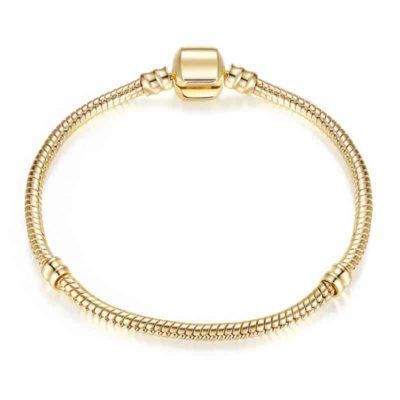 Bracelet à breloques en chaîne serpent pour femme