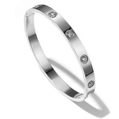 Bracelet en cuivre avec Zirconium (Modèle Luxe)