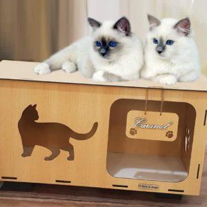 Niche pour chat intérieur Personnalisé