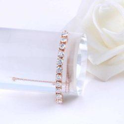 Bracelet rosa ajustable