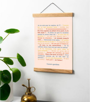 Poster paroles de maman