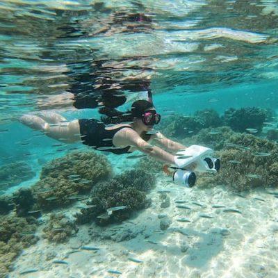 Scooter sous-marin Poséidon blanc