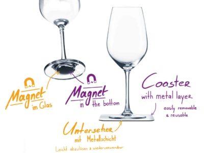 Verres à vin Magnétiques, Super idées cadeaux