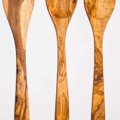 Set de 3 couverts en bois d'Olivier